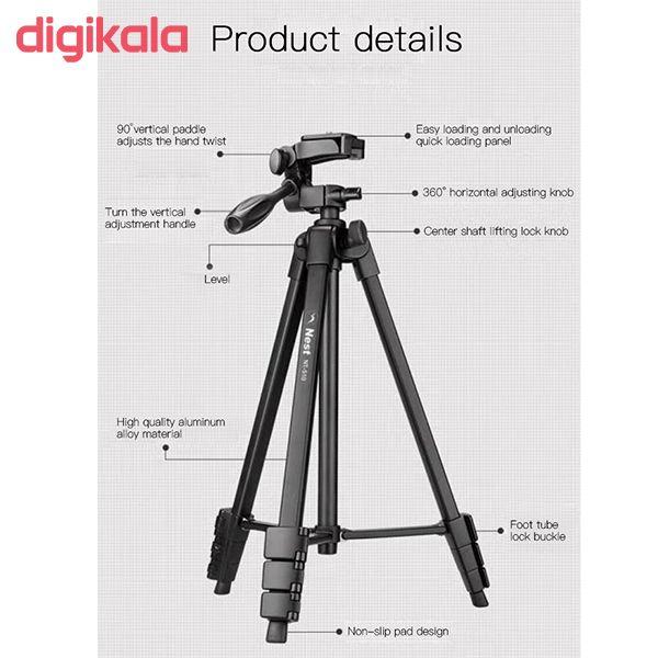 سه پایه دوربین نست مدل NT-510 به همراه گیره نگهدارنده موبایل main 1 12