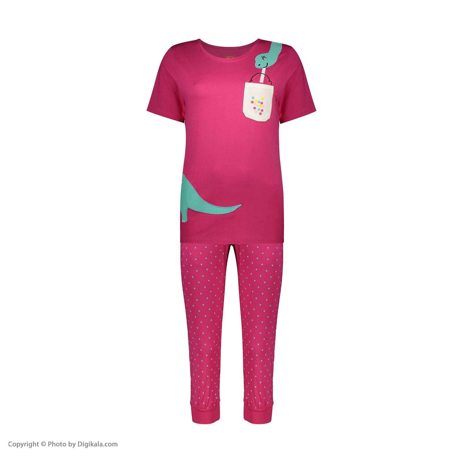 ست تی شرت و شلوارک راحتی زنانه مادر مدل 2041100-66 -  - 3