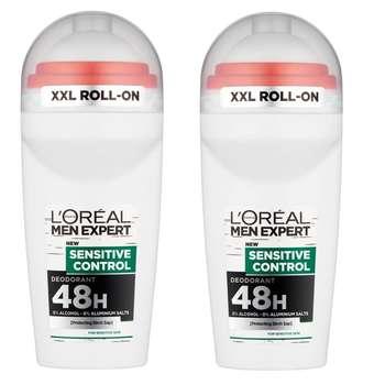 رول ضد تعریق مردانه لورآل سری Men Expert مدل sensitive control حجم 50 میلی لیتر مجموعه 2 عددی