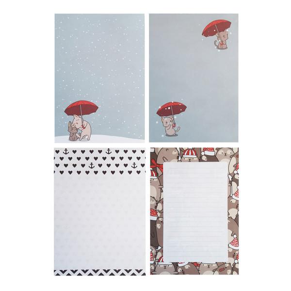 کاغذ یادداشت طهوری طرح عاشقانه ها کد S6009 مجموعه 100 عددی