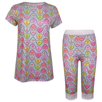ست تی شرت و شلوارک زنانه ماییلدا مدل 3586-11