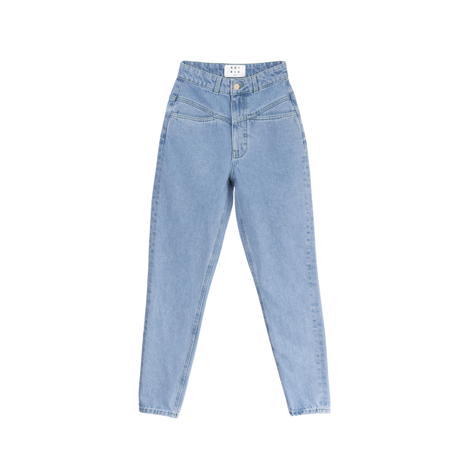 شلوار جین زنانه کوی مدل نامادری رنگ آبی روشن -  - 1
