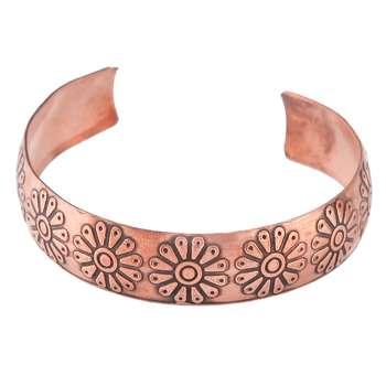 دستبند مسی طرح لوتوس گالری مثالین کد 149035