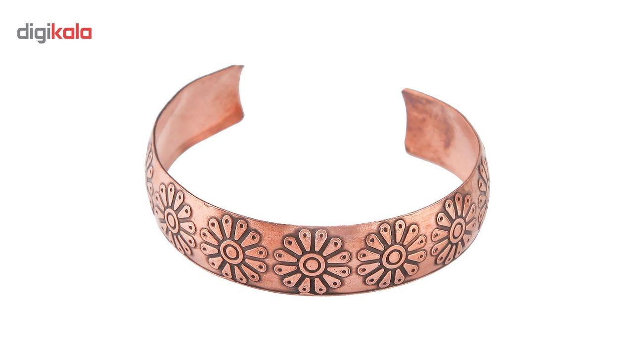 دستبند مسی طرح لوتوس گالری مثالین کد 149035 main 1 1