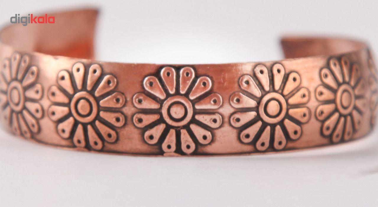دستبند مسی طرح لوتوس گالری مثالین کد 149035 main 1 2