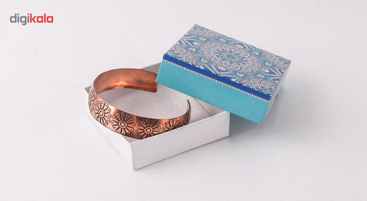 دستبند مسی طرح لوتوس گالری مثالین کد 149035 main 1 5