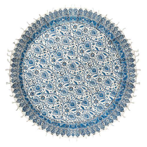 سفره قلمکار ممتاز اثر عطریان مدل دایره ای طرح 3 قطر 100 سانتی متر