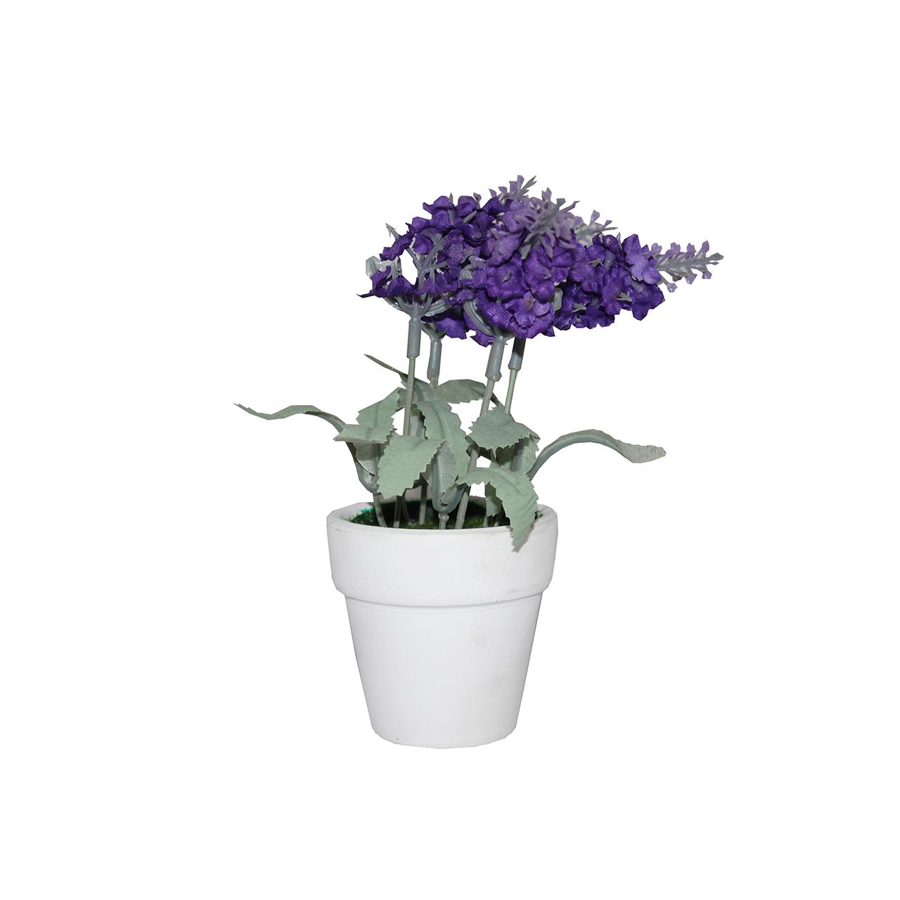 گلدان به همراه گل مصنوعی آتریسا مدل سنبل