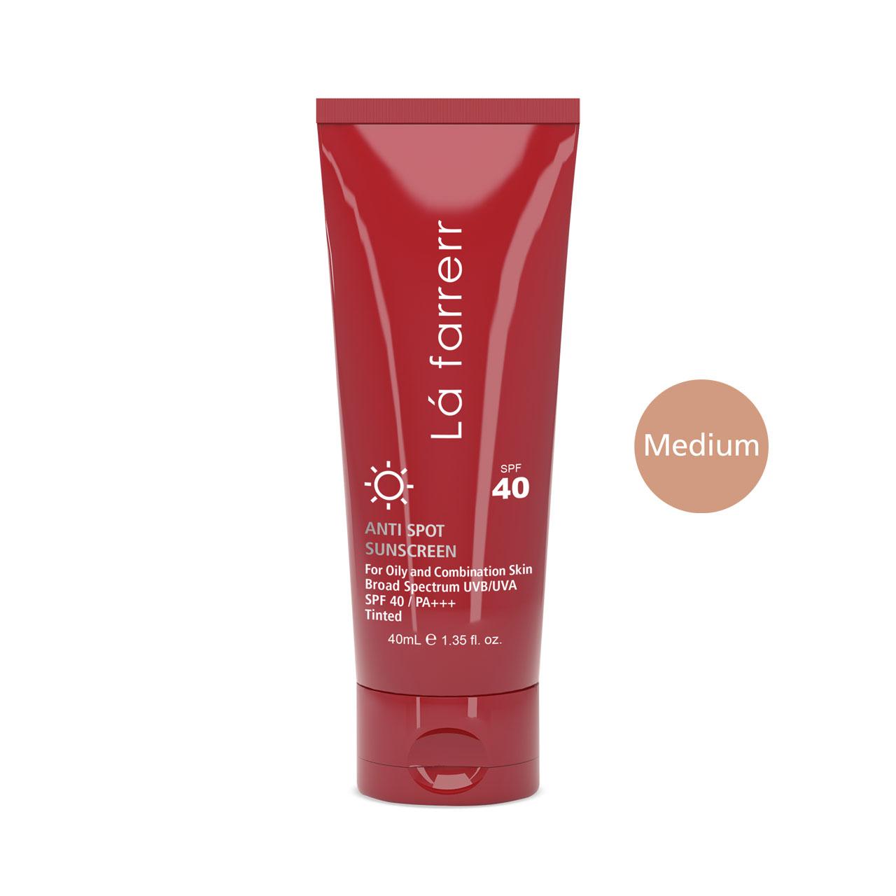 قیمت کرم ضد آفتاب و ضد لک رنگی لافارر مدل Oily And Acne-Prone Medium حجم 40 میلی لیتر