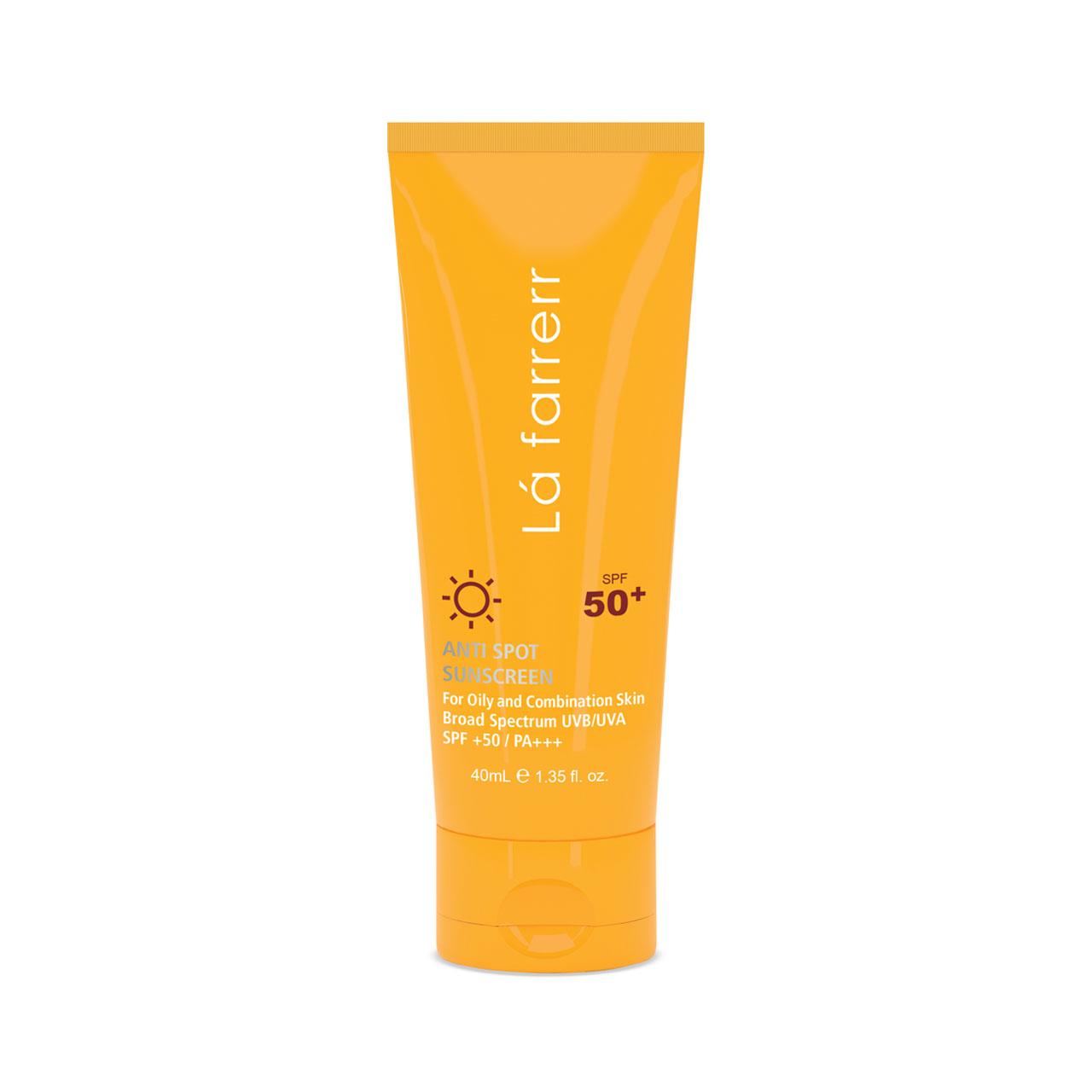 کرم ضد آفتاب و ضد لک لافارر مدل Oily and Acne-Prone SPF50 حجم 40 میلی لیتر