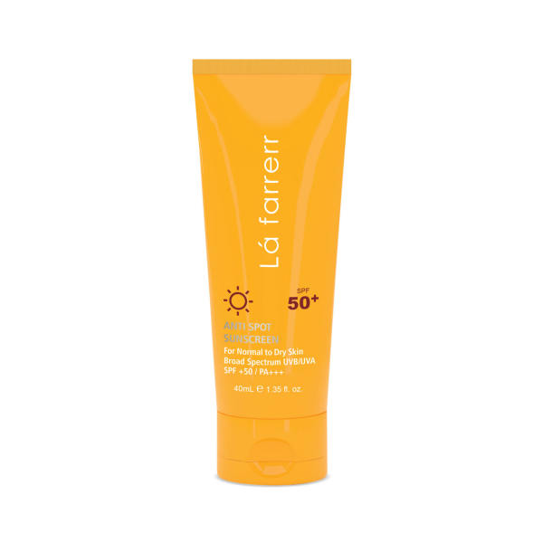 کرم ضد آفتاب و ضد لک لافارر مدل Normal To Dry SPF50 حجم 40 میلی لیتر