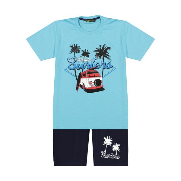ست تی شرت و شلوارک پسرانه خرس کوچولو مدل 2011190-50