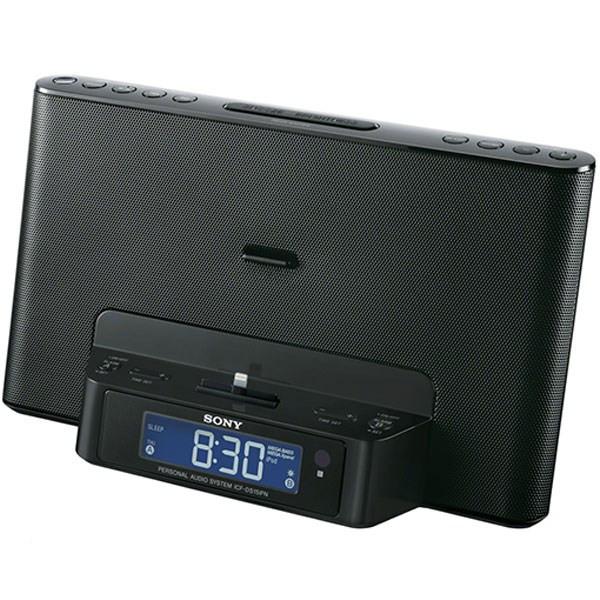 اسپیکر و ساعت رادیو همراه با داک مخصوص آیپد و آیفون سونی مدل ICF-DS15IPN