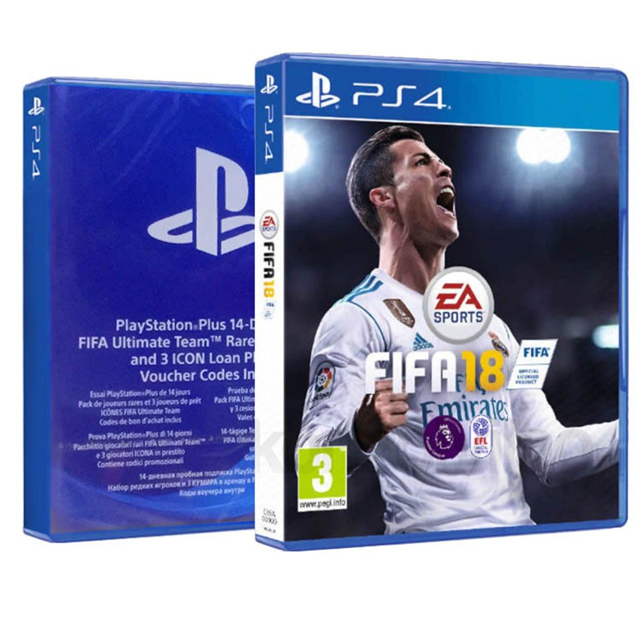 بازی Fifa 18 به همراه کد Icon Edition مخصوص PS4