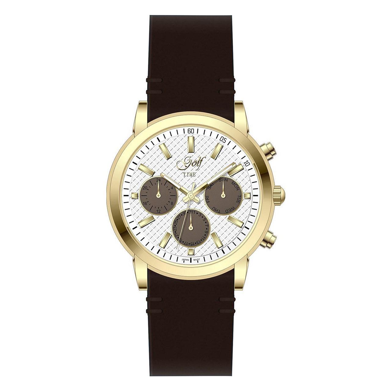 ساعت مچی عقربه ای گلف مدل 5-0216
