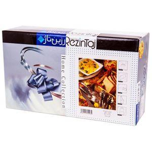 سرویس آشپزخانه چاپی 9 تکه رزین تاژ طرح تمشک