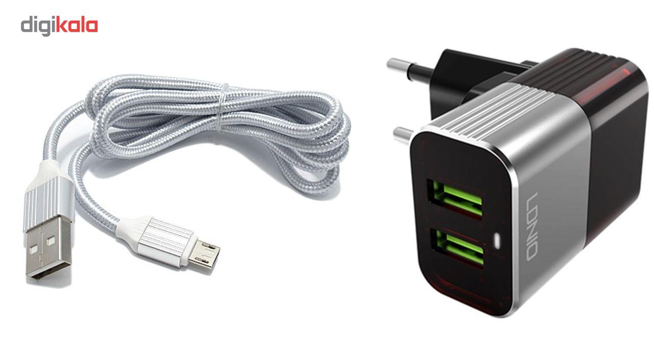 شارژر دیواری الدینیو مدل A2206 همراه با کابل میکرو USB main 1 1