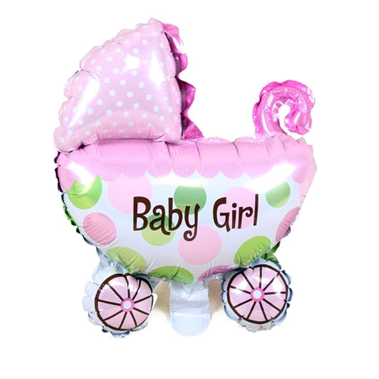 عکس بادکنک فویلی بانیبو مدل Baby Girl سایز 150