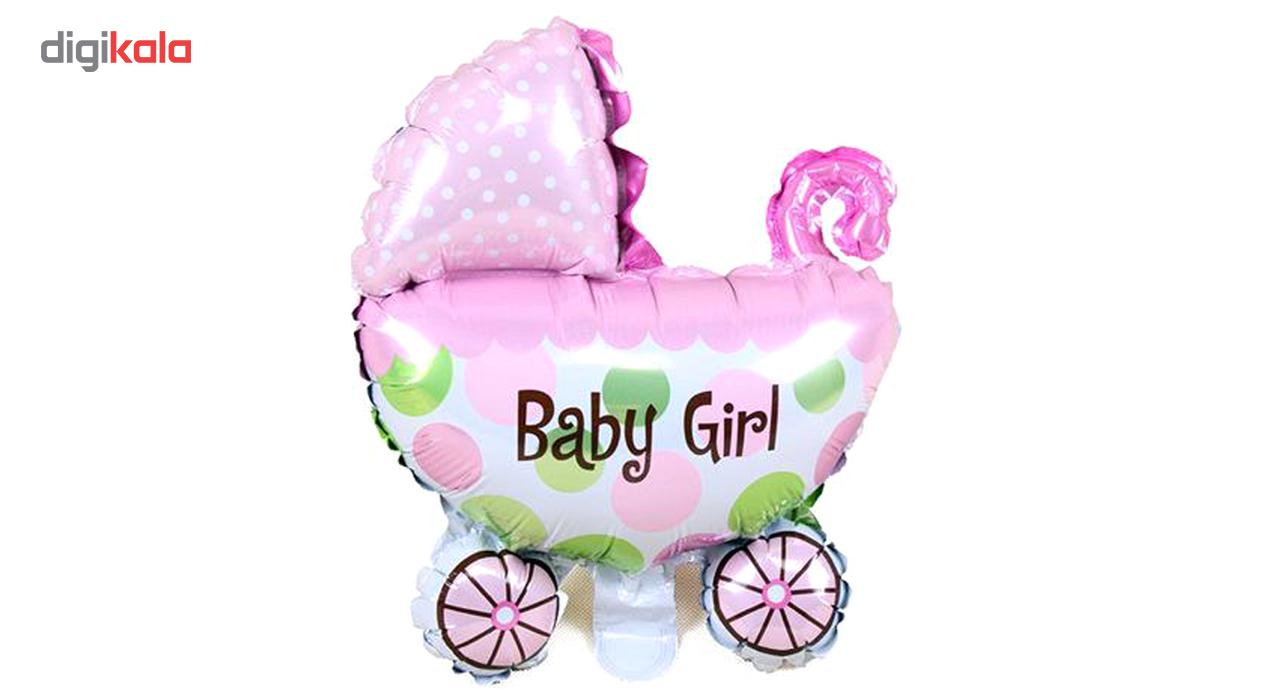 بادکنک فویلی بانیبو مدل Baby Girl سایز 150