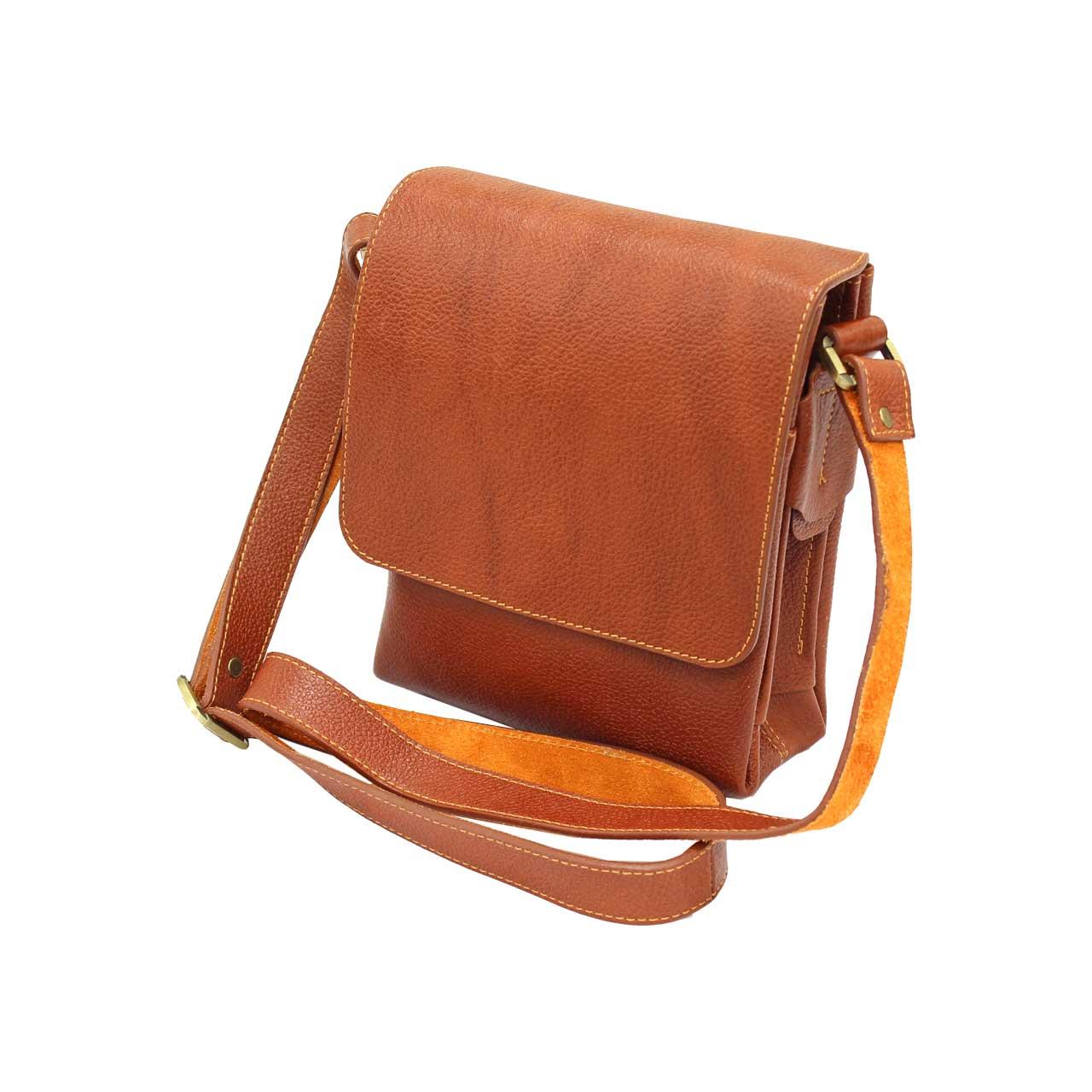 کیف دوشی چرم طبیعی آروین چرم مدل 127