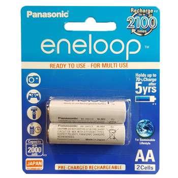 باتری قلمی قابل شارژ پاناسونیک مدل Eneloop JAPAN Techoilogy بسته 2 عددی