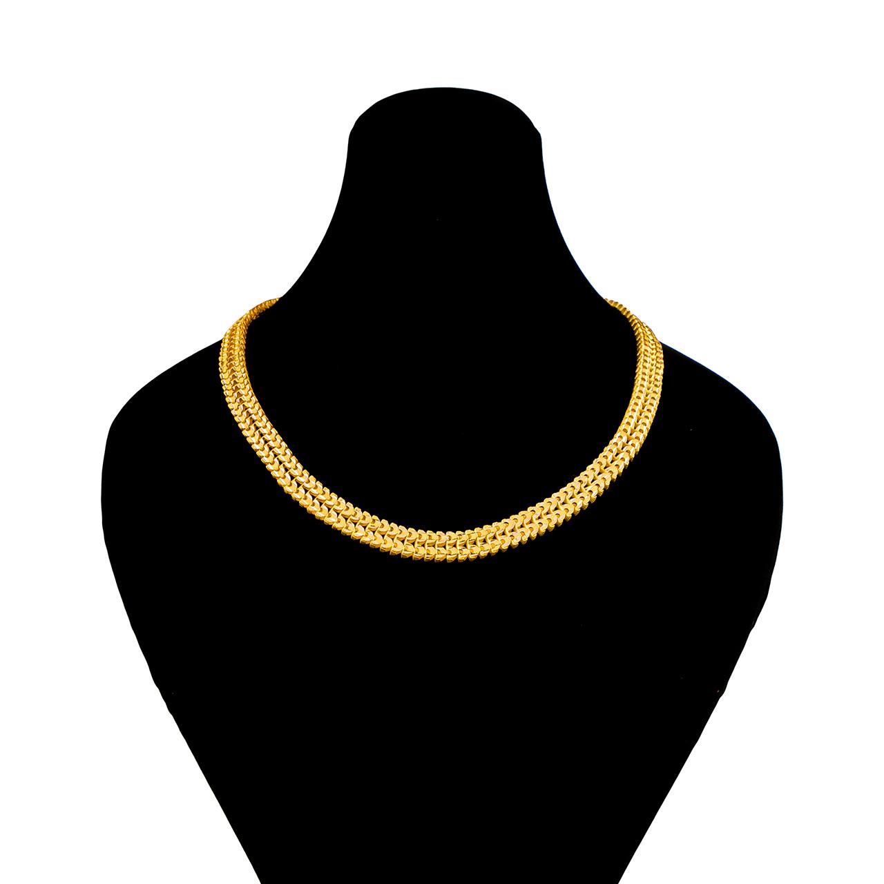 قیمت زنجیر طلا 18 عیار گالری طلاچی مدل پهن