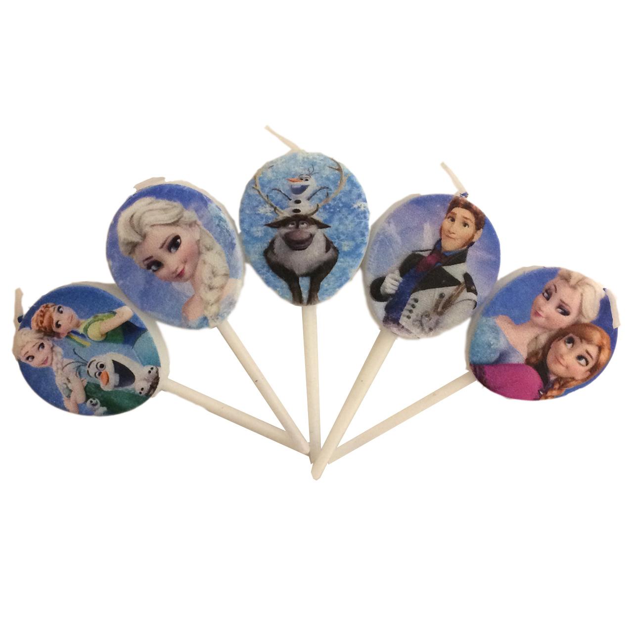 مجموعه 5 عددی شمع تولد بانیبو مدل Frozen
