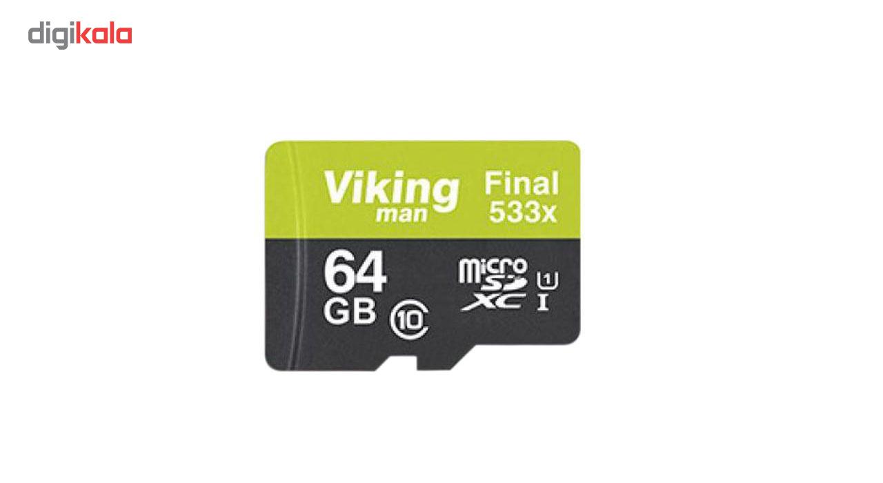 کارت حافظه microSDXC ویکینگ مدل VI64GM کلاس 10 استاندارد UHS-I سرعت 80MBps همراه با آداپتور ظرفیت 64GB