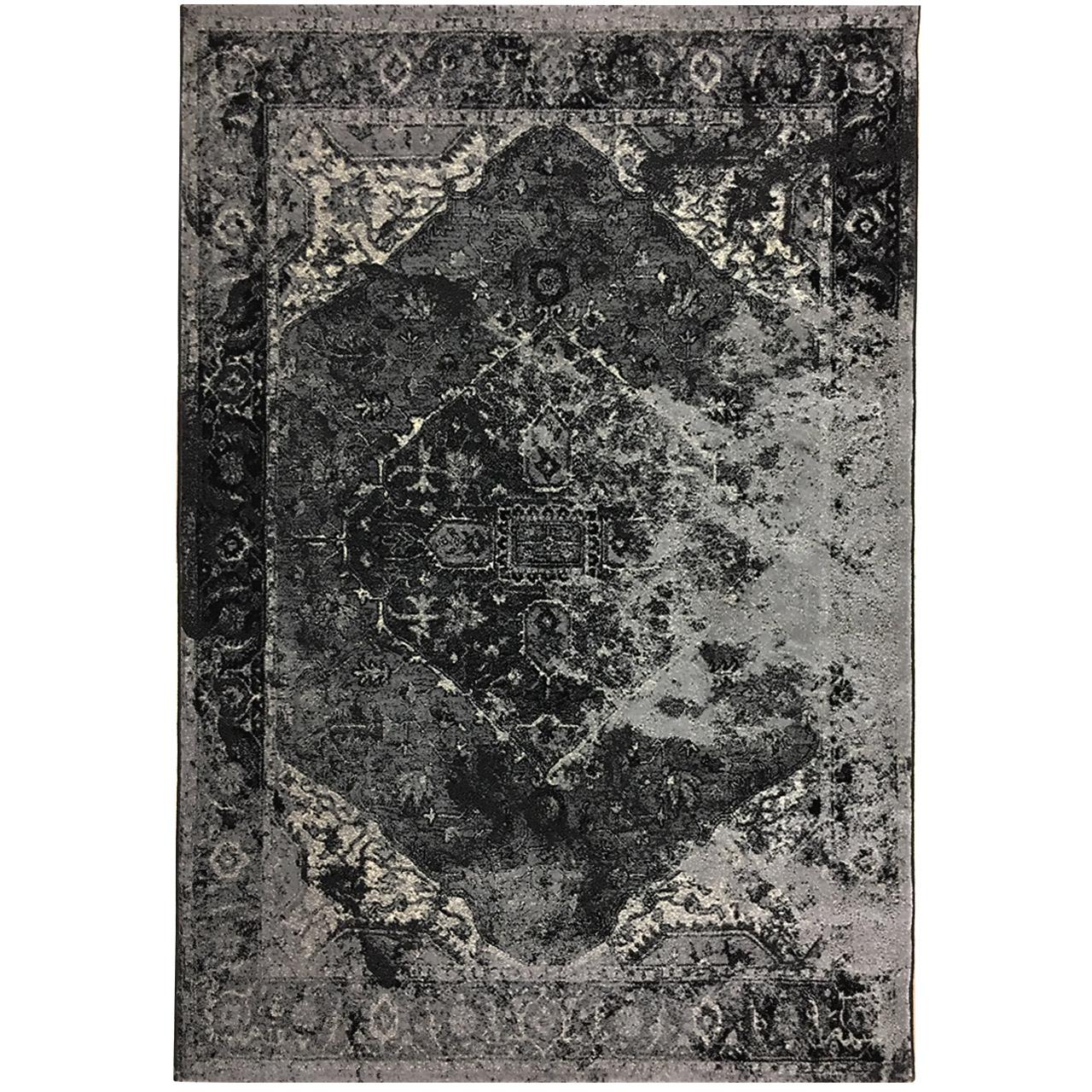 فرش ماشینی طرح پتینه فانتزی کد 583 -زمینه طوسی