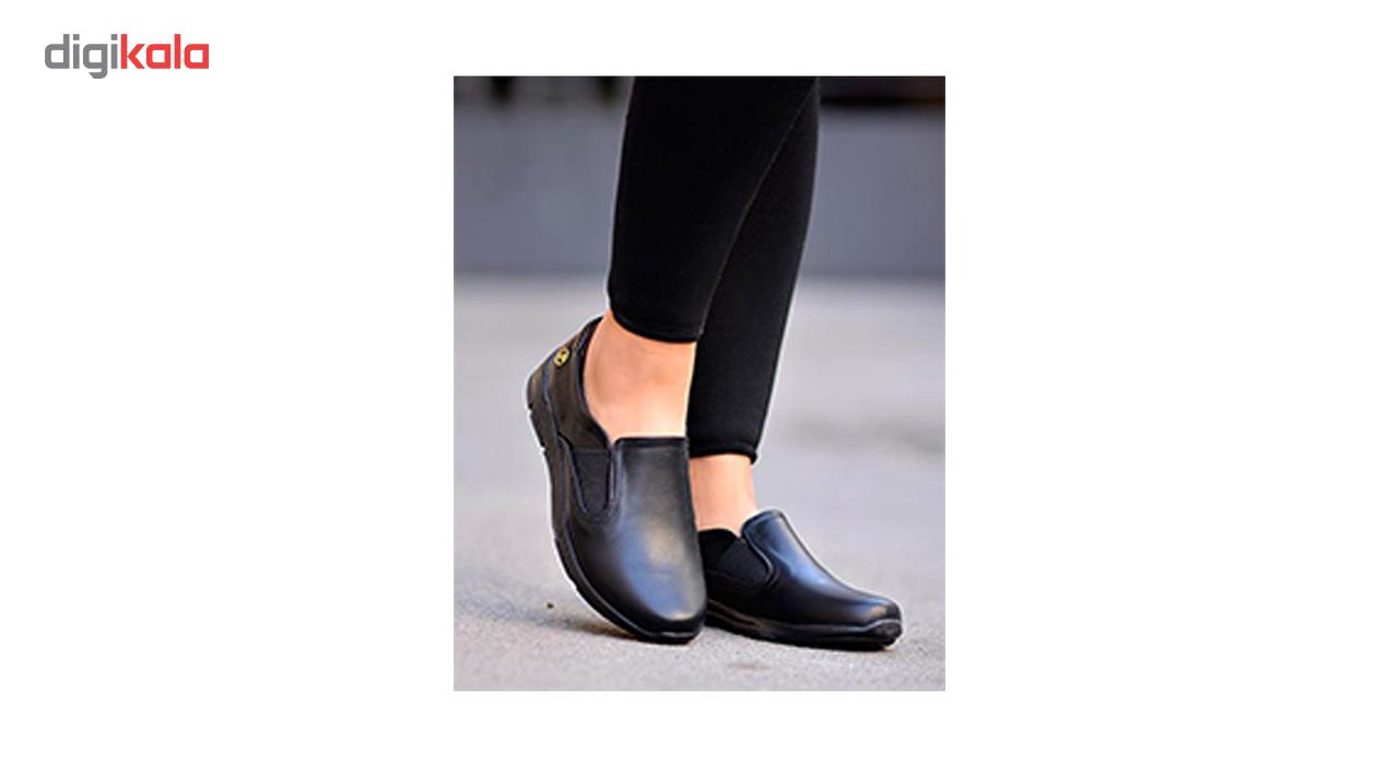 کفش چرم طبی زنانه آریوان مدل ARZ508M