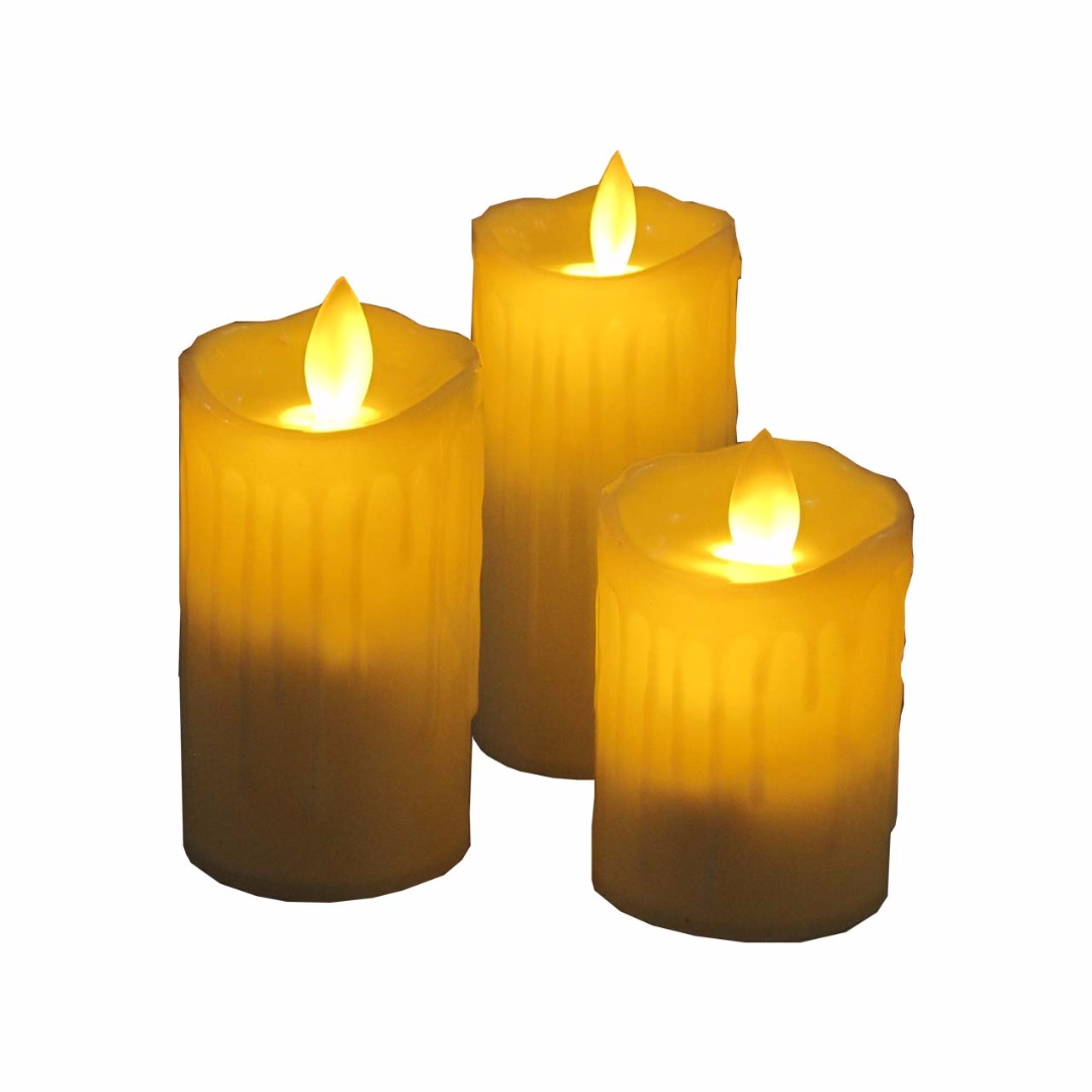 شمع ال ای دی مدل مگنت بسته  3 عددی