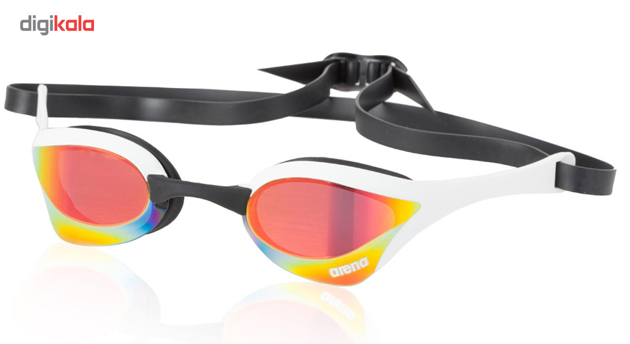 عینک شنا آرنا سری Racing مدل Cobra Ultra Mirror سفید سایز 1.5