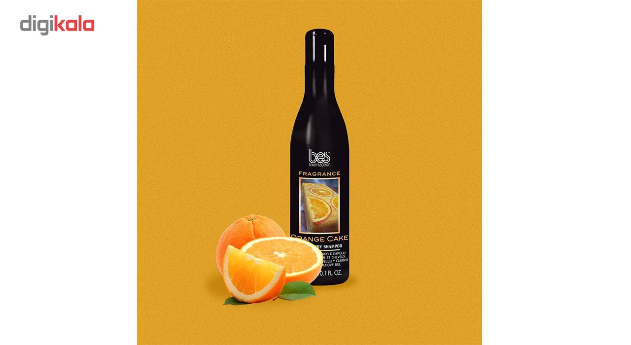 شامپو سر و بدن بس مدل پرتقالی حجم 300 میلی لیتر -  - 3