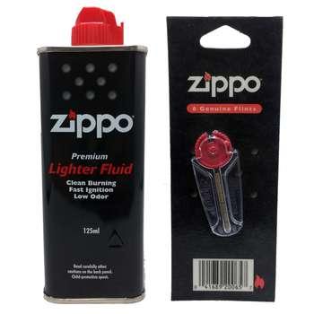 مجموعه دو عددی بنزین و سنگ فندک زیپو مدل AY255