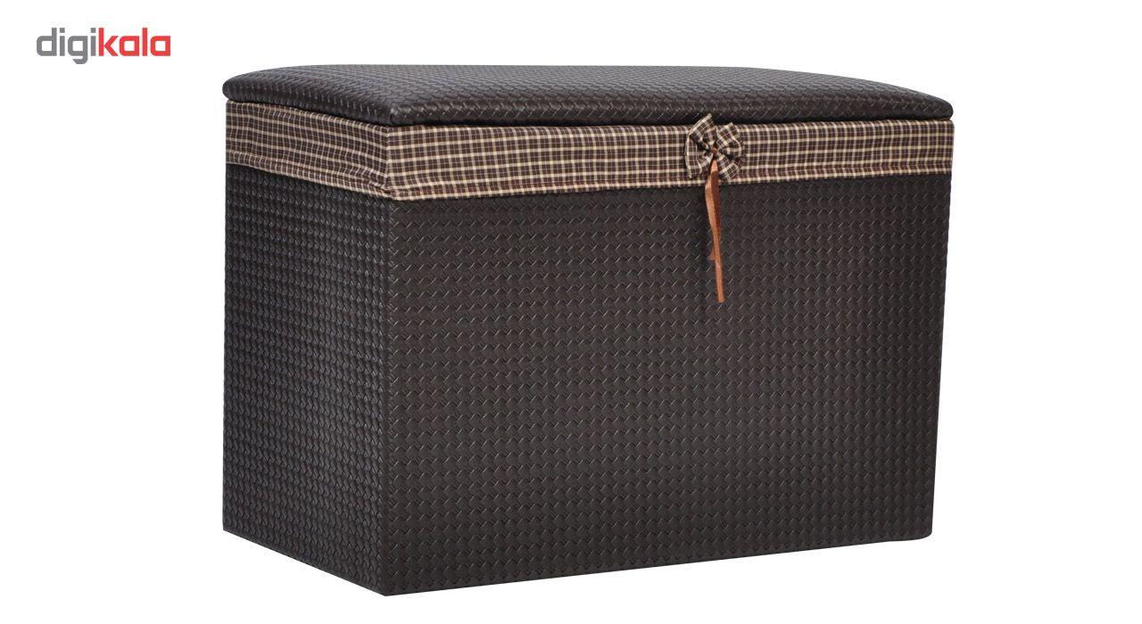 صندوق رخت چرک شایگان مدل چرم نشیمن main 1 1