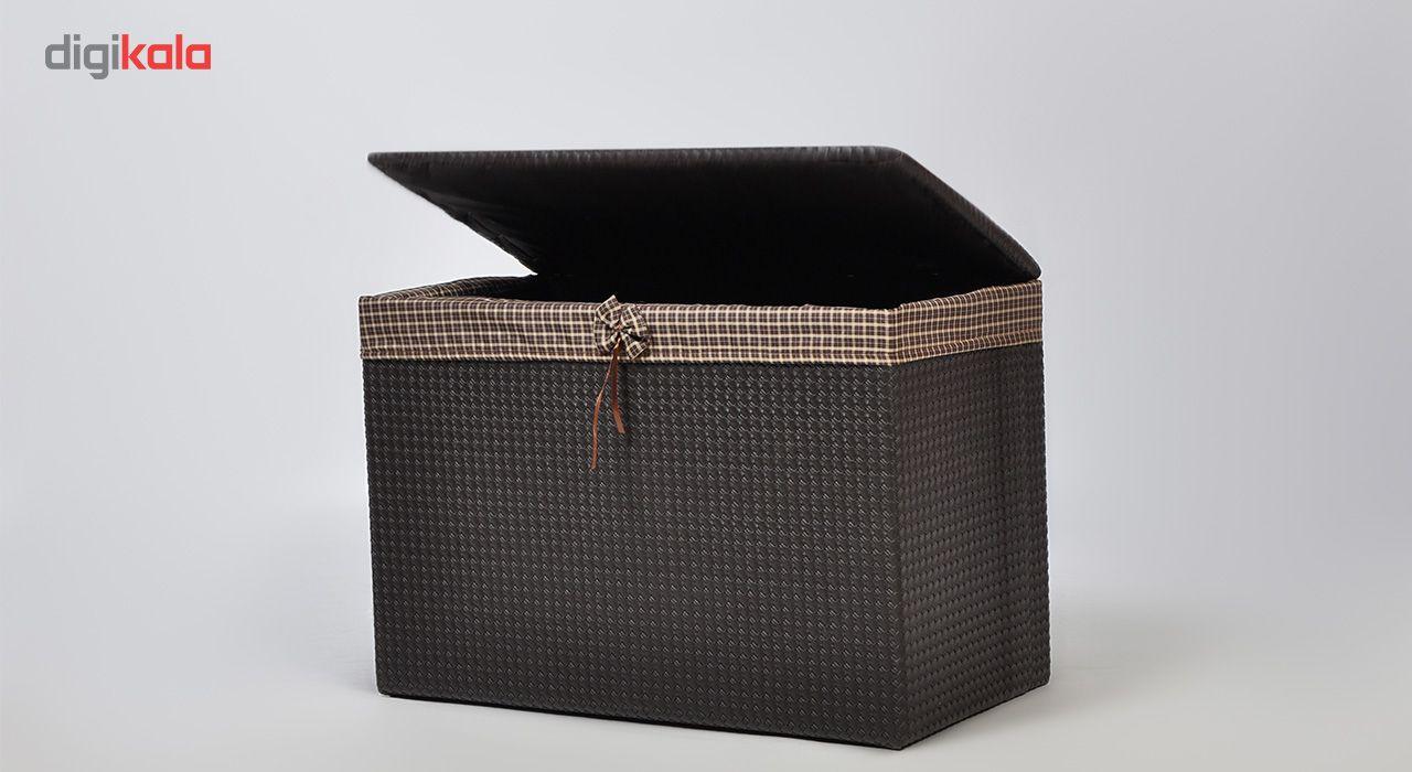 صندوق رخت چرک شایگان مدل چرم نشیمن main 1 3