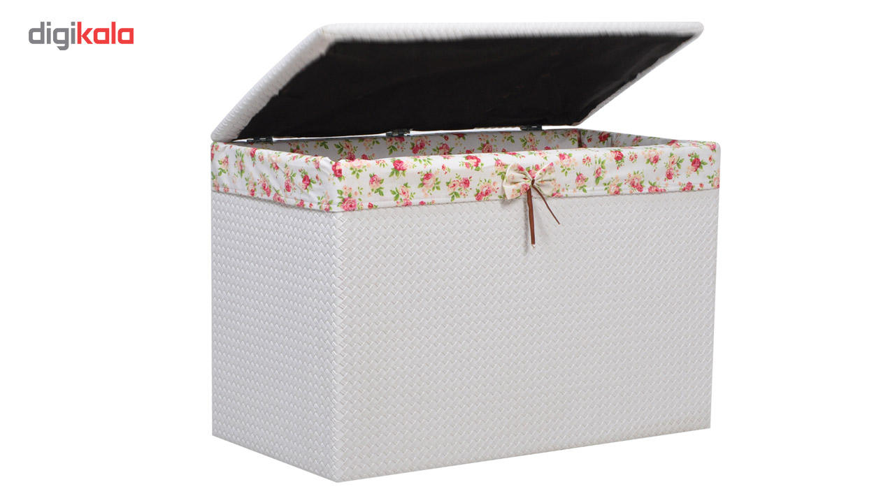صندوق رخت چرک شایگان مدل چرم نشیمن main 1 4