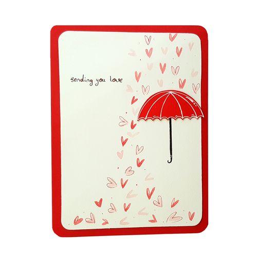 کارت پستال دست ساز آبی عمیق مدل rain