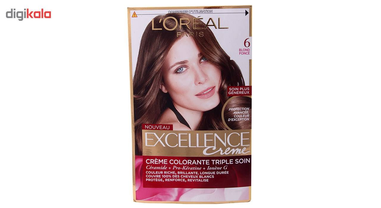 کیت رنگ مو لورآل شماره 6 Excellence  LOreal Excellence No 6 Hair Color Kit
