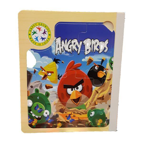 کتاب پازل چوبی 64 تکه مدل Angry Birds