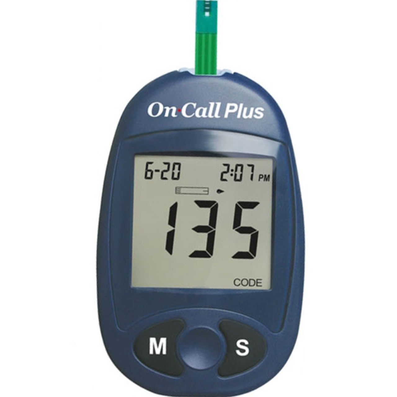 تست قندخون ایکان On Call Plus G113-111 به همراه یک بسته نوار تست On Call Plus G133-115