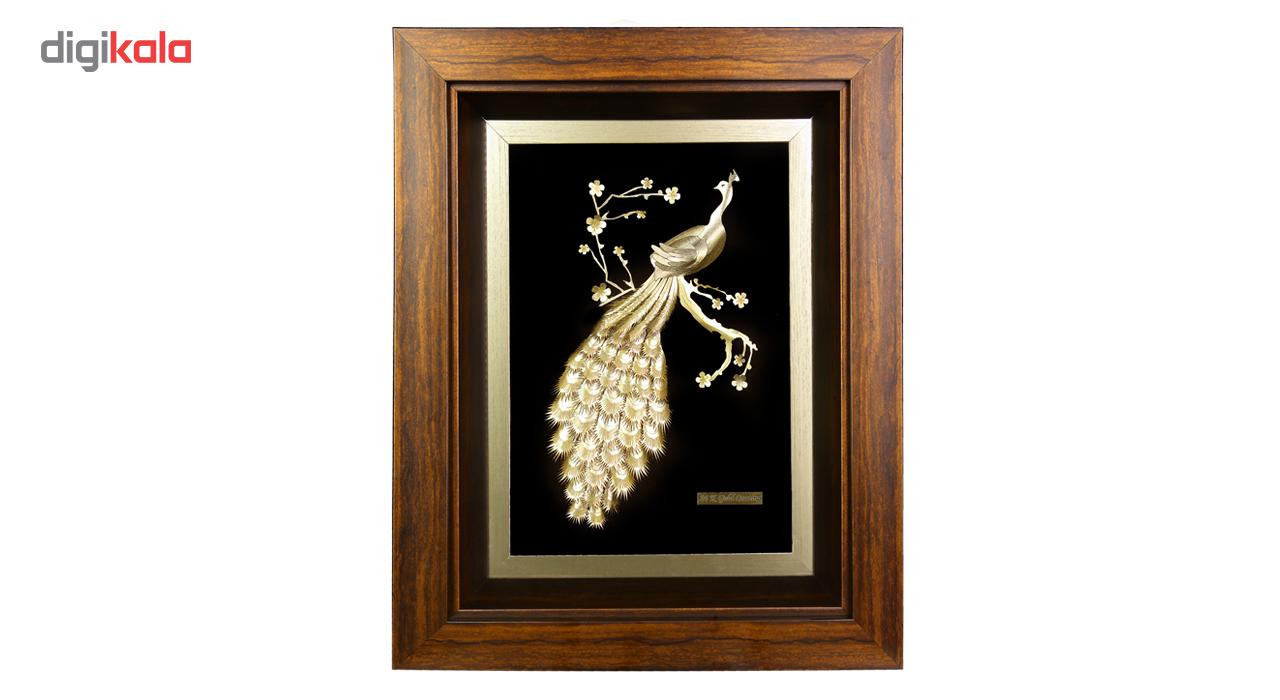 تابلو طلا طاووس کد 0003