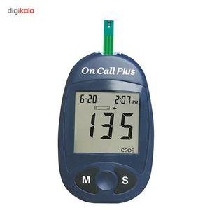 تست قندخون ایکان On Call Plus G113-111 به همراه یک بسته نوار تست On Call Plus G133-115  Acon On Ca