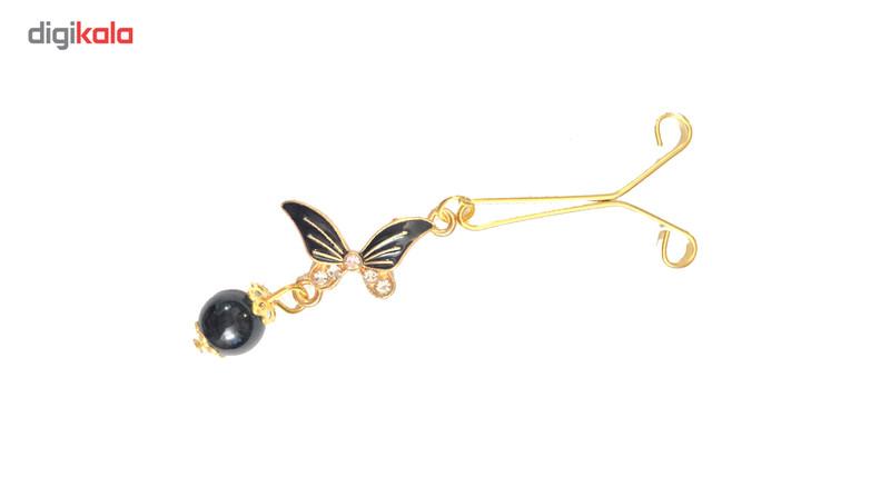گیره روسری مهسیما مدل butterfly