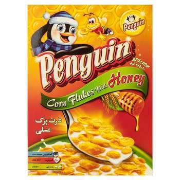 ذرت پرک عسلی پنگوئن مقدار 275 گرم