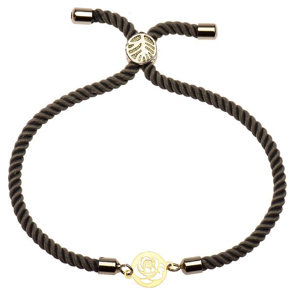 دستبند طلا 18 عیار دخترانه کرابو طرح گل رز مدل Krd1106
