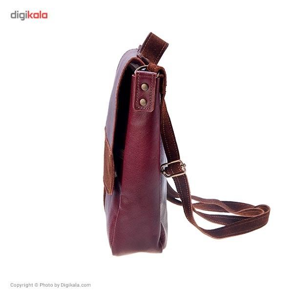 کیف دوشی چرم طبیعی گالری ستاک مدل M376