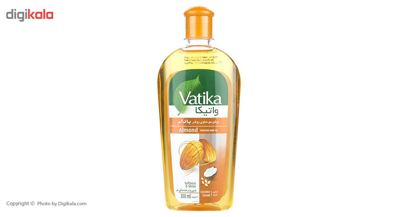روغن نرم و درخشان کننده مو واتیکا مدل Almond حجم 300 میلی لیتر  Vatika Almond Softness And Shine Hai