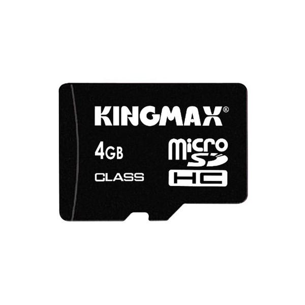 کارت حافظه microSDHC کینگ مکس کلاس 2 سرعت 2Mbps همراه با آداپتور SD ظرفیت 4 گیگابایت