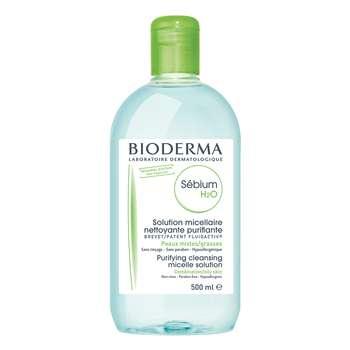محلول پاک کننده آرایش بایودرما مدل Sebium H2O حجم 500 میلی لیتر